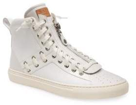 Bally Hekem Leather High Top Sneakers