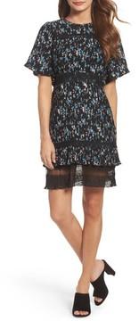 Chelsea28 Women's Pleated Lace Dress