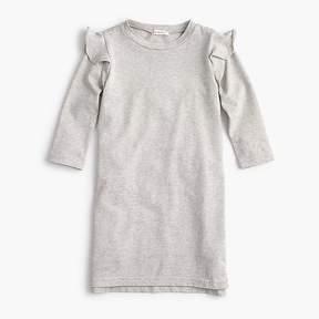 J.Crew Girls' ruffle-trimmed long-sleeve dress