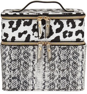 Neiman Marcus Train Combo Animal-Print Case, Multi
