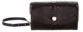 MICHAEL Michael Kors Embossed Suede Phone Crossbody Bag - BLACK - STYLE