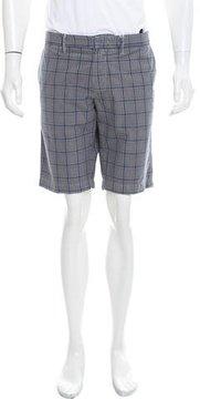 C.P. Company Plaid Flat Front Shorts w/ Tags