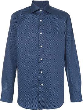 Canali dots print shirt