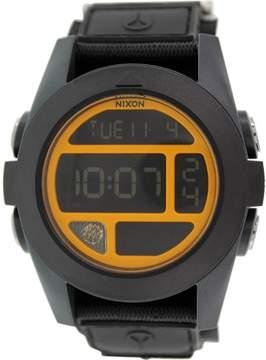 Nixon Baja Watch Black/Steel Blue/Neon Orange, One Size