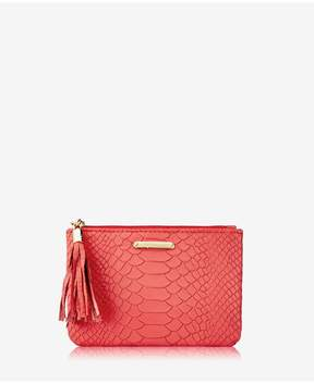 GiGi New York | Zip Pouch In Sunset Embossed Python | Sunset embossed python