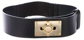 Tory Burch Leather Turn-Lock Belt
