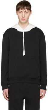 3.1 Phillip Lim Black Zip Sleeve Contrast Hoodie