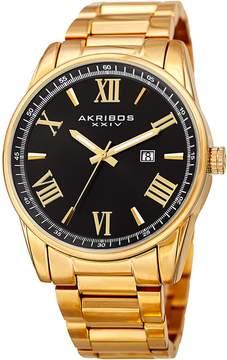 Akribos XXIV Roman Numeral Three Hand Watch, 45mm