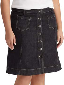 Chaps Plus Size Denim Skirt