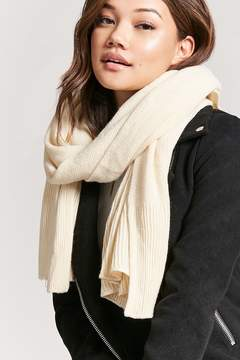 Forever 21 Ribbed-Trim Oblong Scarf