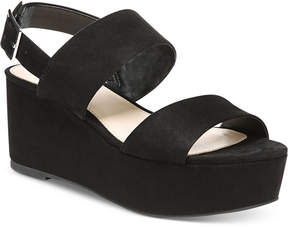 Bar III Dalenna Platform Wedge Sandals, Created for Macy's Women's Shoes