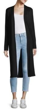 Joan Vass Long Open Front Cardigan