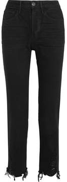 3x1 W3 Higher Ground Cropped High-rise Straight-leg Jeans - Black