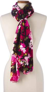 Lands' End Lands'end Women's Pink Floral Scarf