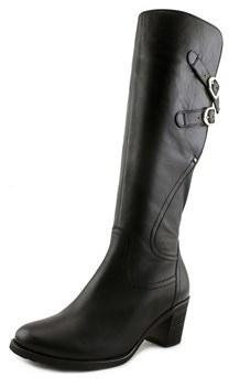 Gabor 75.789 Women Round Toe Leather Black Mid Calf Boot.