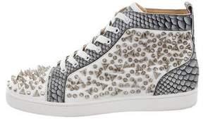 Christian Louboutin Python-Trimmed Pik Pik Orlato Sneakers