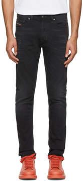 Diesel Black Washed Tepphar Jeans