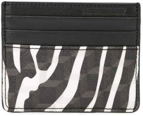 Pierre Hardy zebra printed canvas cardholder