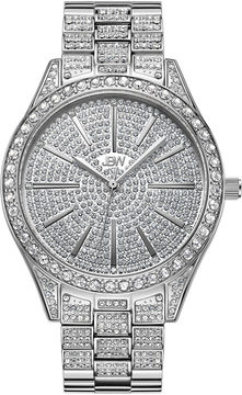 JBW Cristal Stainless Steel 0.12 C.T.W Diamond Accent Womens Silver Tone Bracelet Watch-J6346c