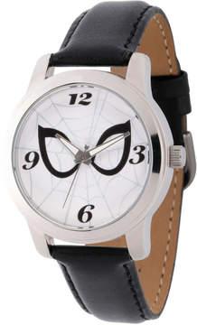 Marvel Spiderman Mens Black Strap Watch-Wma000212