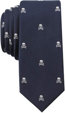 Bar III Men's Skull Skinny Tie, Created for Macy's