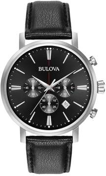 Bulova Men's Classic Leather Chronograph Watch - 96B262