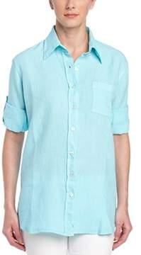 Allen Allen Linen Woven Shirt.