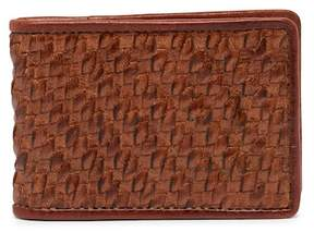 Tommy Bahama Basket Woven Leather Bifold Wallet
