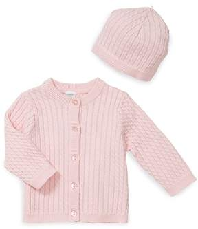 Little Me Girls' Cable-Knit Cardigan and Hat - Baby