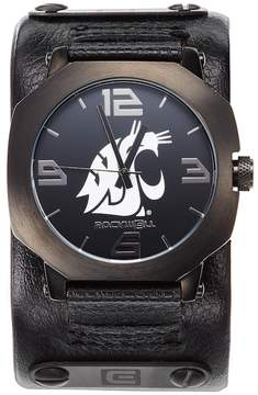 Rockwell Kohl's Washington State Cougars Assassin Leather Watch - Men