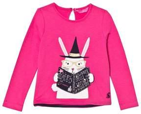 Joules Pink Magic Rabbit Applique Tee