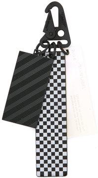 Off-White checkerboard keychain