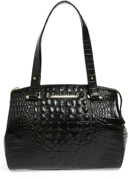 Brahmin Small Alice Melbourne Leather Satchel - Black