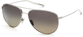 Salt Francisco Polarized Aviator Sunglasses, Silver