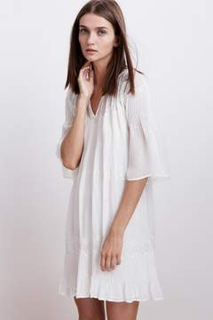 Velvet by Graham & Spencer CHERISH LAOS CHIFFON PINTUCK DRESS