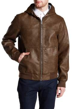 Levi's Faux Leather Hooded Bomber Jacket