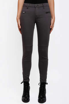 Blank Twill Skinny Pant with Ankle Zips
