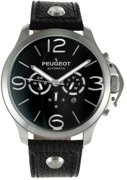 Peugeot Men's Automatic Leather Skeleton Watch - MK912SBK