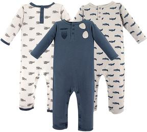 Hudson Baby Blue Sunglasses Playsuit Set - Infant