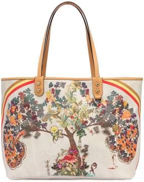Etro Tree Print Coated Canvas Tote Bag