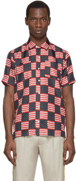 Palm Angels Tricolor Silk Flag Shirt