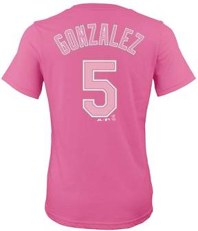 Majestic Girls 7-16 Colorado Rockies Carlos Gonzalez Player Name and Number Tee