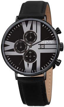 August Steiner Mens Black Strap Watch-As-8212bk