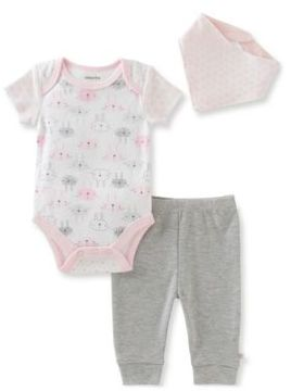 Absorba Babys Three-Piece Bodysuit, Pantsand Bib Set