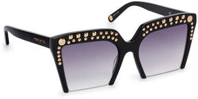 Henri Bendel Court Studded Square Sunglasses