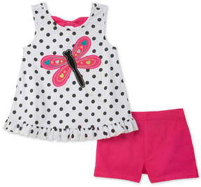 Kids Headquarters 2-Pc. Butterfly Tank Top & Shorts Set, Baby Girls