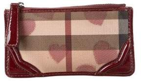 Burberry Nova Check Heart Zip Wallet