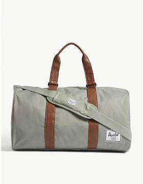 Herschel Light Grey and Tan Brown Woven Novel Duffle Bag