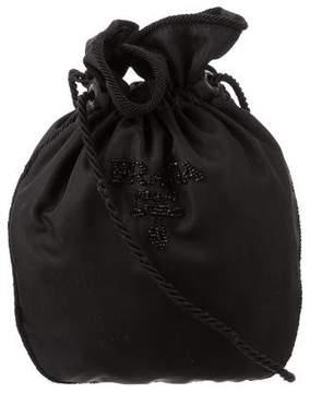 Prada Embellished Drawstring Shoulder Bag