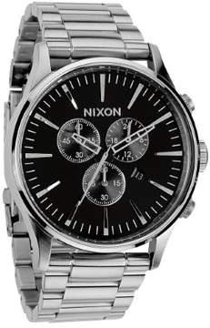 Nixon The Sentry Chrono A386-000 Silver/Black Analog Quartz Men's Watch